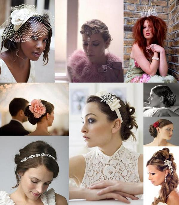 wedding mood board brings you some of our favourite wedding hair pieces