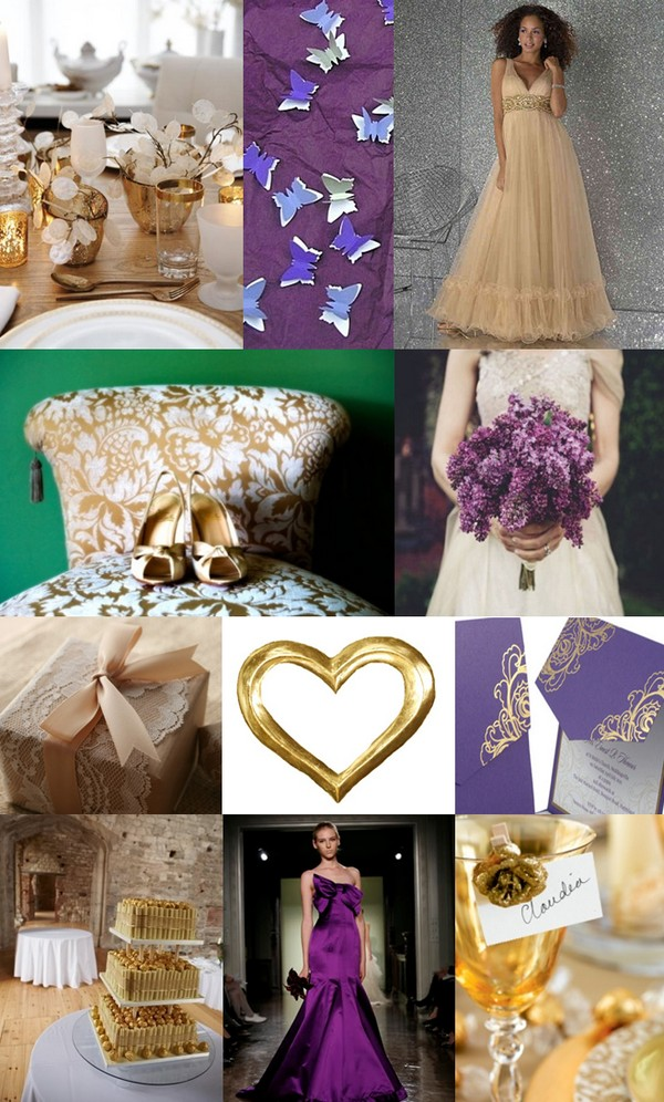 how about a purple and gold wedding