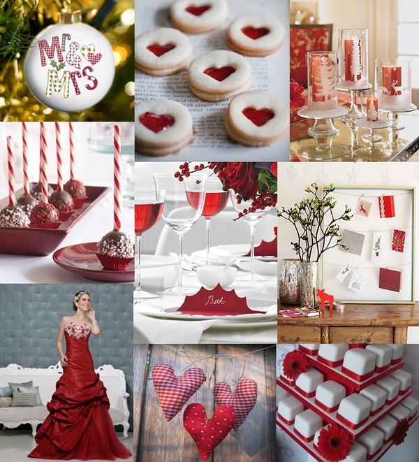 Monday red christmas themed weddings the wedding community blog