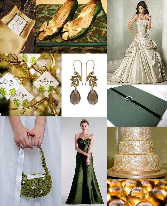 Green And Gold Wedding Ideas: Moody Monday - Forest Green And Gold Wedding Theme