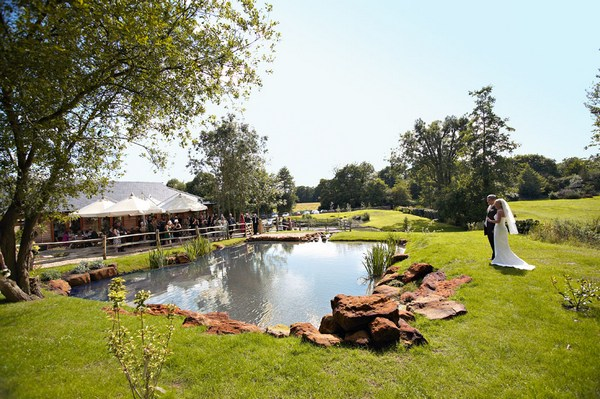 Picture of the lake at Coltsford Mill Wedding Venue