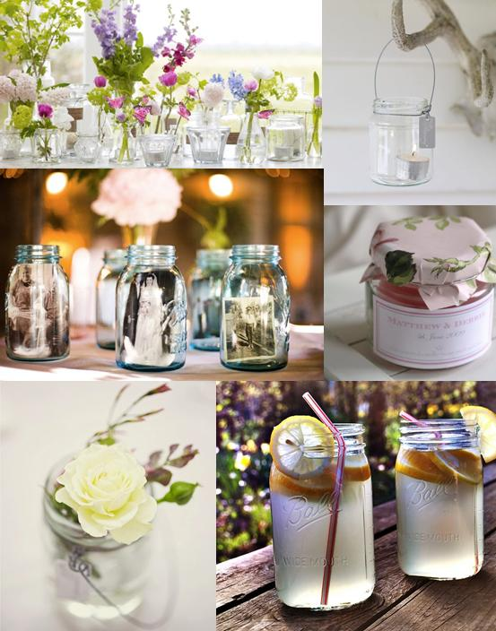 Jam Jar Wedding Decorations Mood Board