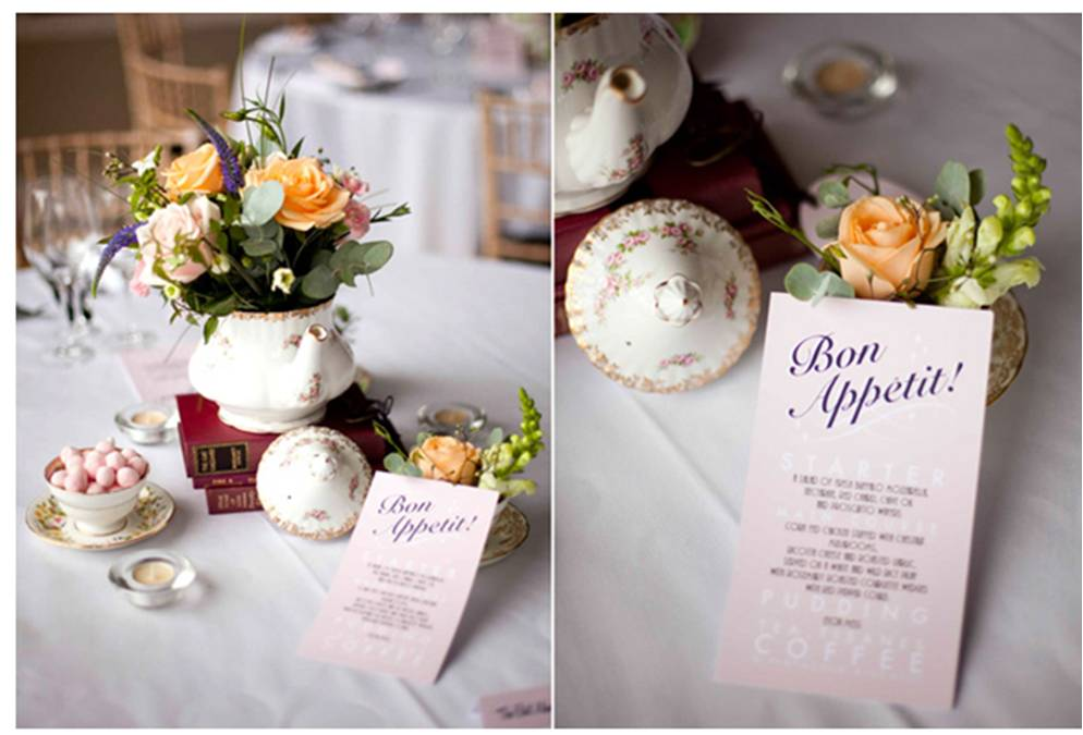 The Wedding Community Blog Vintage Wedding Menu Ideas
