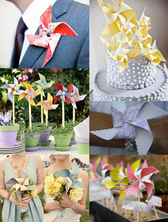 Wedding Pinwheels Mood Board