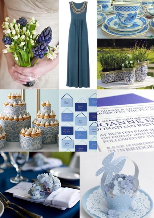 Blue And White Wedding Theme Ideas: Classic royal blue wedding ...