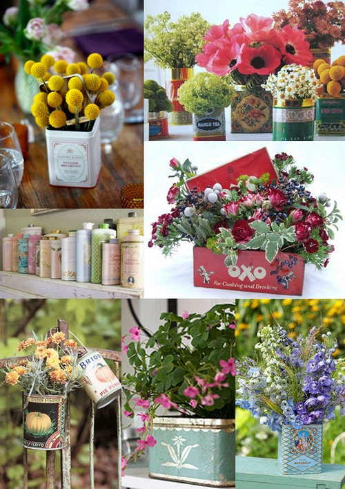 Here are some of our favourite vintage tin wedding decoration ideas