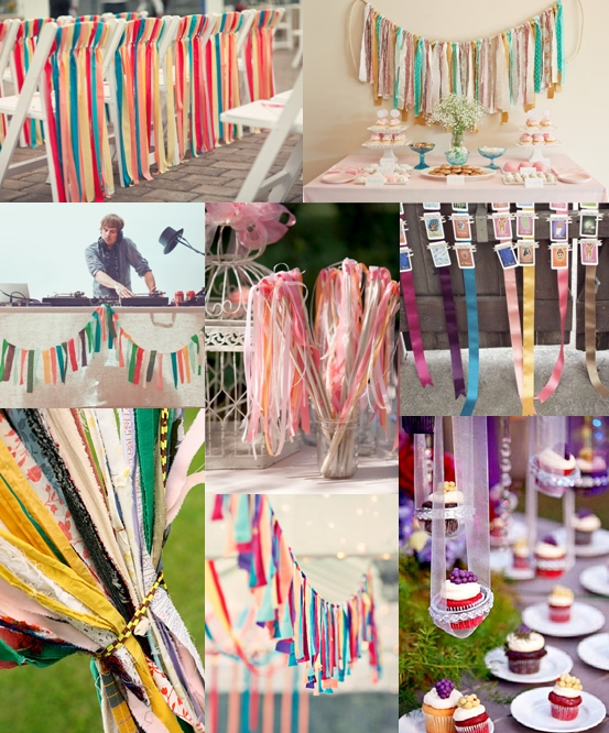 These are our favourite ribbon streamer wedding decoration ideas