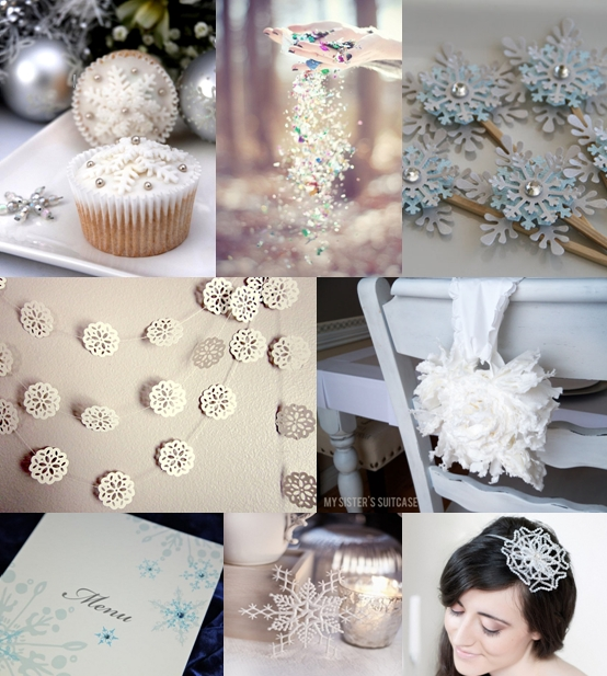 Here are some beautiful snowflake ideas for your wedding