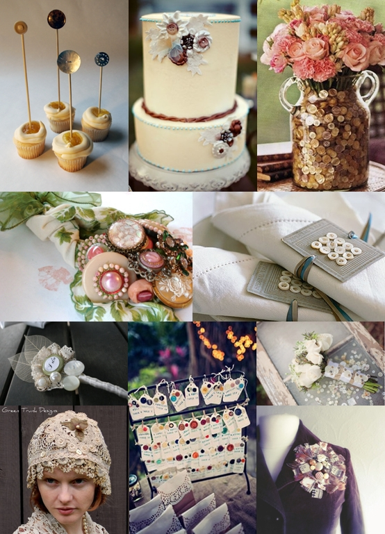 vintage button wedding ideas moody monday the wedding community