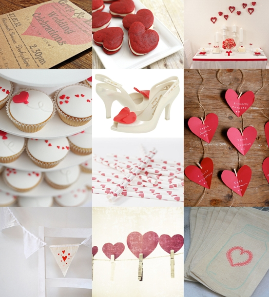 Valentine's Wedding Ideas Mood Board