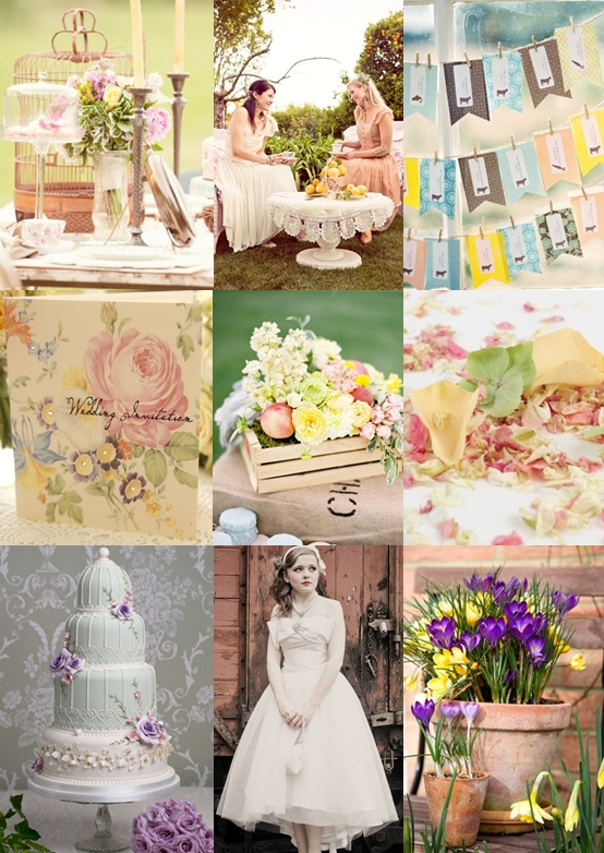 Vintage Spring Garden Wedding Ideas Mood Board