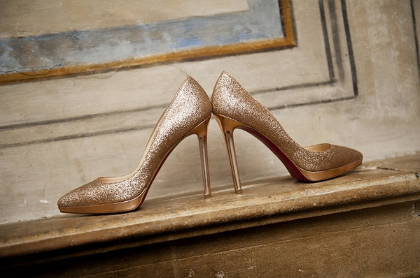 Gold Christian Louboutin shoes - Picture by Gill Maheu Photography