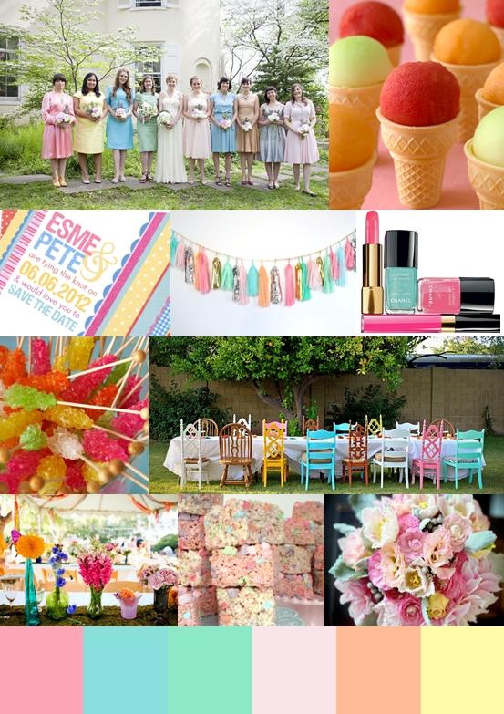 Candy Colour Wedding Ideas Mood Board