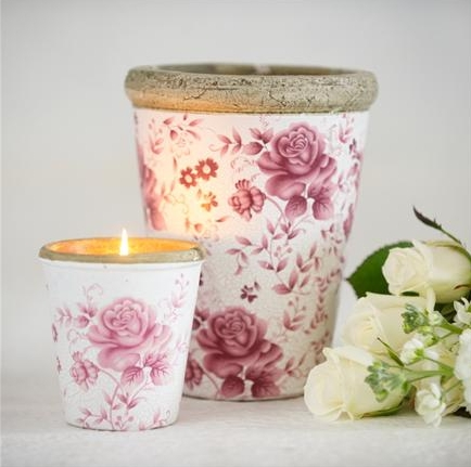 Pink Rose Candle Pot from St Eval Candle Company